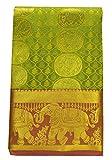 SARAVANABAVA SILKS Kanchipuram Silk Saree with Elephant Border(Green, SRBS01212)