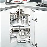 SO-TECH® 3/4-Kreis Drehbeschlag für 80er Eckschrank