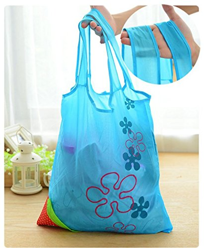 safeinu-SKL-Pack-of-2-strawberry-Reusable-Foldable-Shopping-ECO-Bags