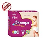 #8: Champs Diapers High Absorbent Pant Style Diaper (Medium, 56 Pieces)