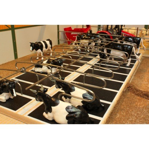 BRUSHWOOD Toy Farm BT2099 Metal Cow Cubicles - Doubles