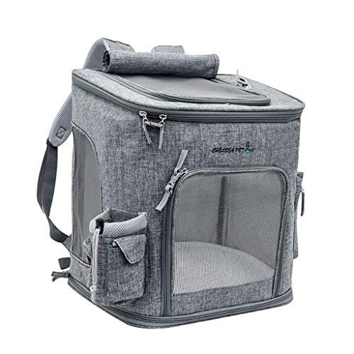 MEI Haustier Tasche Pet Carrier Airline genehmigt unter Sitz für Hunde und Katzen, Reisetasche für Kleintiere mit Mesh-Top und Seiten (Color : A)