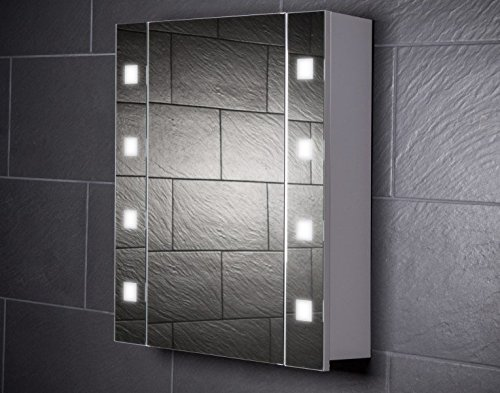 Galdem CUBE60 Spiegelschrank - holz, 60 x 65 x 15 cm, weiß