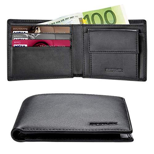 cf8762904b Portafoglio Uomo Piccolo Sottile con Porta Carta di Credito e Blocco Rfid  Porta Tessere in Pelle