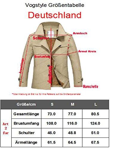 Vogstyle Herren Jungen Langarm Cabanjacke Reverskragen Trenchcoat Mantel Kurzmantel Einreihig Jack Anzug Art 2 Olive Fur