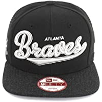 Atlanta Braves MLB Nero / Grigio Vintage Script New Era 9Fifty Snapback Cappello da baseball