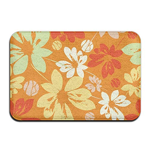 Miedhki Ink Flower Funny Super Soft Dotted Non-Slip Bottom Memory Foam 23.6x15.7 inch Easy Clean Door Mats Rectangular Paillasson