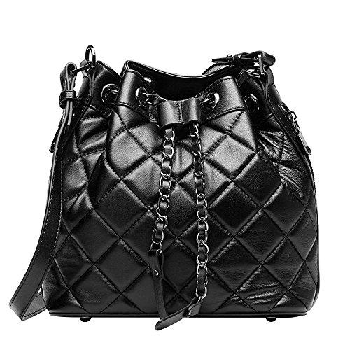 Mefly European Fashion Umhängetasche Neue Leder Crossbody-Tasche Sind Einzelne Kette Tasche black