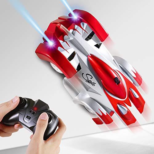 Auto, RC Kletterwandwagen Fahrzeug, Wand Klettern Spielzeugauto für Kinder mit , USB Ladung, LED Flashing, 360° Rotation, Rocket Racer für Kinder Kindergeschenk ()