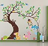 HALLOBO Wandtattoo XXXL Eulenbaum Baum Eulen Eule Vogel Wald Tier Wandaufkleber Wandsticker Kinderzimmer Kinder baby