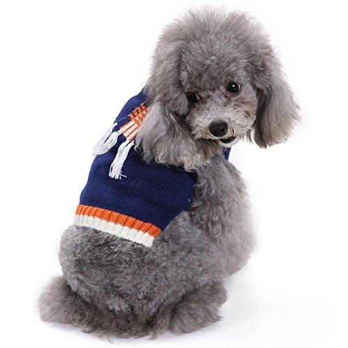 Kleiner Hund Pullover, Tianya Pet Hund Katze weiches Kabel Knit Strickwaren Pullover Kalten Winter Warm Puppy Pullover Schal wie Pullover Shirt Kostüme Kleidung (Strickwaren-kabel)