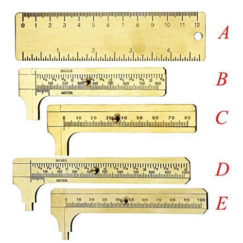Mini Schiebetür DIY Messschieber Messing Gauge Lineal Micrometer Measurement Werkzeug double scale 100mm siehe abbildung