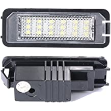 XCSOURCE® 2x Error Libre Led Licencia Número Placa Lamp Light Luz para VW GOLF MK4 MK5 POLO MA143
