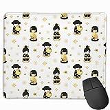 Mouse Pad Cute Tapis de Souris Japonais Anime Dolls Rectangle Rubber 1181 x 984 Pouces avec revêtement Noir