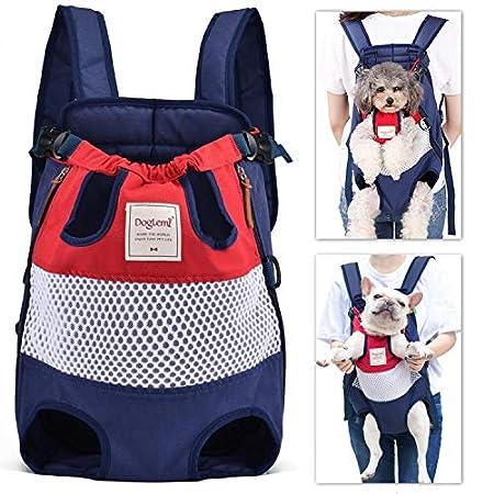 PETTOM Atmungsaktives Mesh Seitlicher Reißverschluss Canvas Haustier Rucksack Für Katze Hunde, Geeignet Für EIN Gewicht Von Nicht Mehr Als 12 kg Von Katze Oder Hund