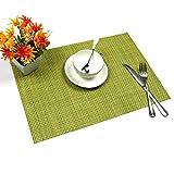 6er Set Tischsets U'Artlines Waschbare Platzsets Rutschsicher Hitzebeständig Platzdeckchen 45*30cm(Grün) - 4
