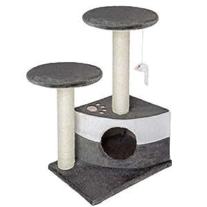 Arbre à chat griffoir grattoir anthracite gris
