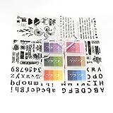 Stempelkissen-Set, zum Silikon-Stamper Folder Vorlage und Gel Acryl Pad f¨¹r DIY Album Papier Karte Scrapbooking Kunst Handwerk