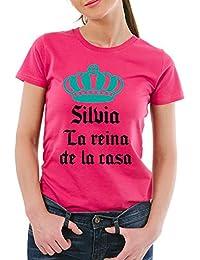 Calledelregalo Regalo Personalizable: Camiseta 'La Reina de La casa' Personalizada con Su Nombre