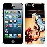 Rihanna Coque pour iPhone 5S Coque rigide de protection (8) pour Apple i Phone 5S