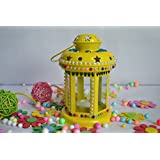 Decorative Lantern.A Very Cute And Colorful Metal Lantern For Your Sweet Home Or Gifting For Weddings, Anniversaries, House Warming Ceremonies, Office And Shop Inauguration,Corporate Gifting, Diwali ,Raksha Bandhan . Tea Light Holder. (Tea Light Candle Fr