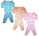 #6: Kids Night Suit Front Open - Pack Of 3