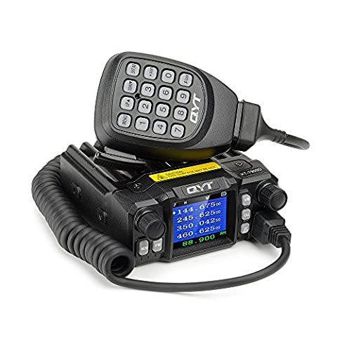 QYT KT-7900D Mini Mobile Transceiver Quad Band 136~174/400~480MHz /220~260MHz/350~390MHz Amateur Car Radio -