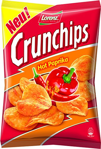 Preisvergleich Produktbild Lorenz Snack World Crunchips Hot Paprika,  8er Pack (8 x 175 g)