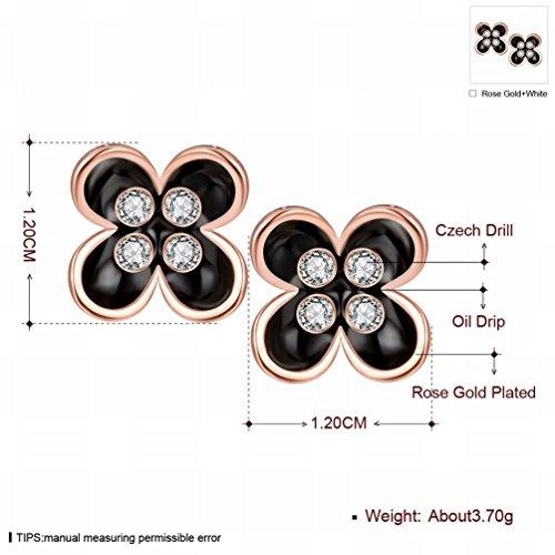 JJHVUGI Anti-allergiker / Silber Blinkend / Diamant-pers?nlichkeit Klee Platin Gold Ohrringe / Spirale / Kristall Transparent / Klein und Exquisit,C (Doppel-spirale-ohrring)