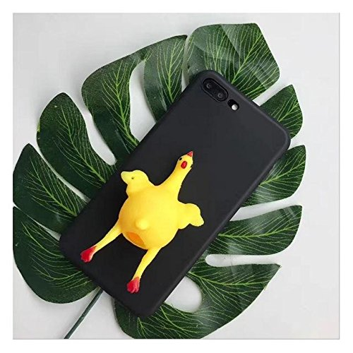 queeze Chicken Lay Egg Squishy Phone Case Cover TPU stress Soulager pour iPhone 7 plus black