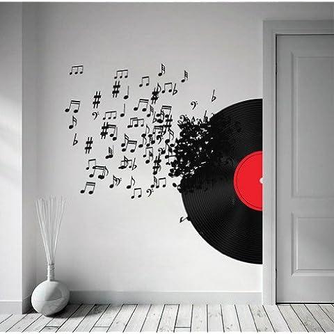 Vinilo Decorativo Soplando las Notas Musicales - 77 x 135 cm