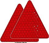 Uvv-Reflex: Reflektoren für Fahrrad, PKW, Anhänger, Parkpfosten oder zur Dekoration, rot reflektierend (2 Stück/Dreiecke 150 mm)