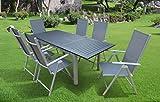 7-teilige Luxus Aluminium Textilen Gartenmöbelgruppe