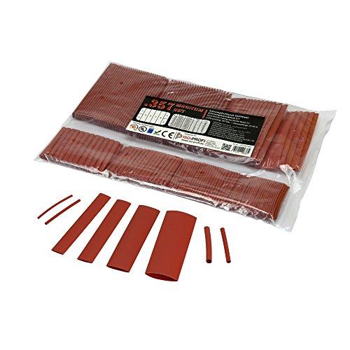 Kleber-beutel (357-tlg Magnum Set von ISO-PROFI® Schrumpfschlauch Sortiment im Beutel Rot 2:1)