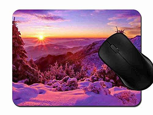 Preisvergleich Produktbild Mauspad Fichten Gebirgssonnenuntergang Rutschfeste Gummi Basis Mouse pad,  Gaming und Office mauspad für Laptop,  Computer PC 1H836