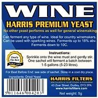 Harris - Levadura para hacer vino en casa (5 unidades)