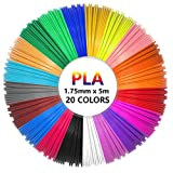 Dokpav 20 Couleurs,Total 330 pieds, Total 100 mètres,5M Chaque Couleur, PLA Filament,3D Stylo Fils Filament 1.75mm, Ink Fils 3D Print Filaments pour Stylo d'impression 3D / Dessin 3D / Peinture 3D