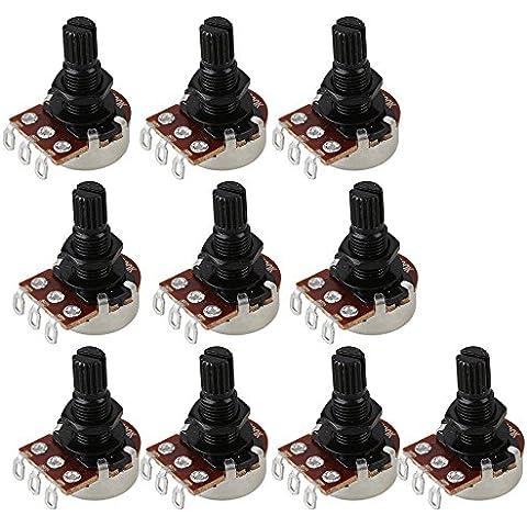 BQLZR 10pezzi B500K lungo Split Shaft Potenziometro Volume Tone per chitarra basso elettrico interruttore di controllo per piccoli vasi