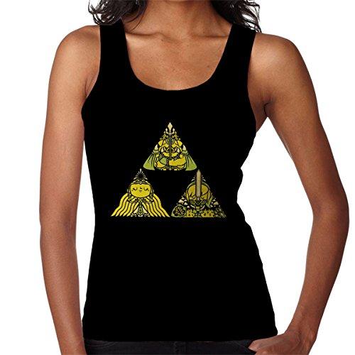 Legend Of Zelda Triforce Women's Vest Black