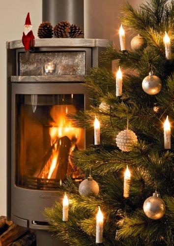Konstsmide 2314-000 - Guirnalda led para árbol de Navidad (20 velas esmeriladas, imitación de cera, 230 V, para interiores)