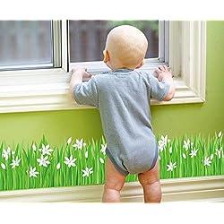 Skyllc® Sayuri Grassland plinthe salle de bain cuisine porte d'entrée et vitrine décoration mur autocollants
