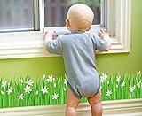 Skyllc Schöne Sayuri Wiese Fußleiste Bad Küche Eingangstür und Fensterdekoration Wandaufkleber