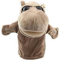 Marioneta - SODIAL(R)Marionetas de mano de animal de felpa de terciopelo lindo Disenos elegantes Juguete ayuda de aprendizaje del nino (Hipopotamo) Gris