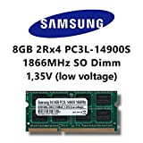 Samsung 8GB (1x 8GB) DDR3 1866MHz (PC3L 14900S) SO Dimm Low Voltage Notebook Laptop Arbeitsspeicher RAM Memory Apple iMac 17,1 Late 2015 0x80AD