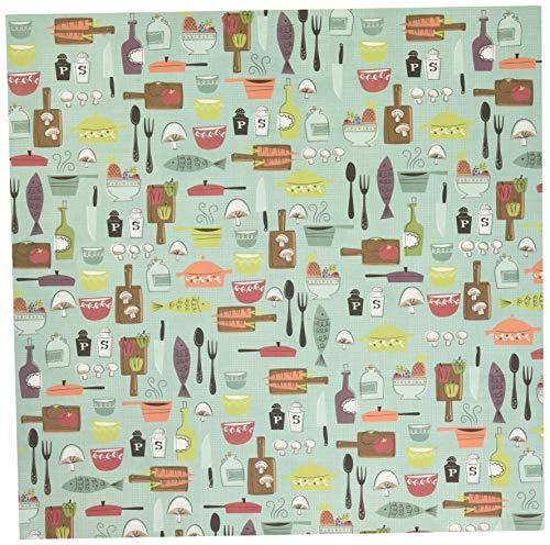 Unbekannt Karen Foster Scrapbooking-Papier, 25 Blatt, 30,5 x 30,5 cm Shabby Chic 12-x-12 Cooking Fun (Shabby Chic Scrapbook-papier)