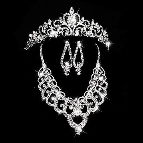 gfjfghfjfh Brautschmuck Halsketten-Ohrringe Halskette + Ohrringe Halskette Ohrringe Hochzeit Zweiteilige Hochzeit Braut Armband