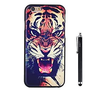 iPhone 6S Case, iPhone 6 Case H&T (TM) Unique 3d Embossed Painting Process Colorful Design Skin Soft Iphone 6/6S Protective Cover Case Slim Fit for Iphone 6/6S 4.7 with Free Stylus (Tiger)