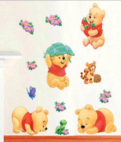 Wandaufkleber Wandtattoo Wandsticker Deko Winnie Pooh Kind Kinderzimmer WAK-083