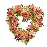 Heart-Shape Garland Artificial Flower Wreath for Wedding Car Home Room Garden Decoration