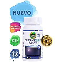 Melatonina para la promoción de un sueño saludable – Melatonina con vitamina B6 para ayudar al sistema inmune – 60 comprimidos masticables de alta concentración con sabor a cereza